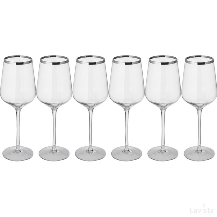 Set 6 witte wijnglazen Werra