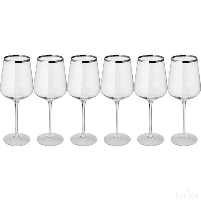 Set 6 rode wijnglazen Eder
