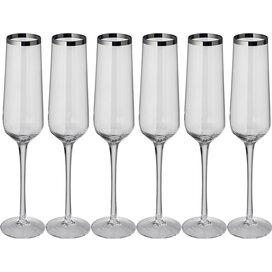 Set 6 champagneglazen Nahe
