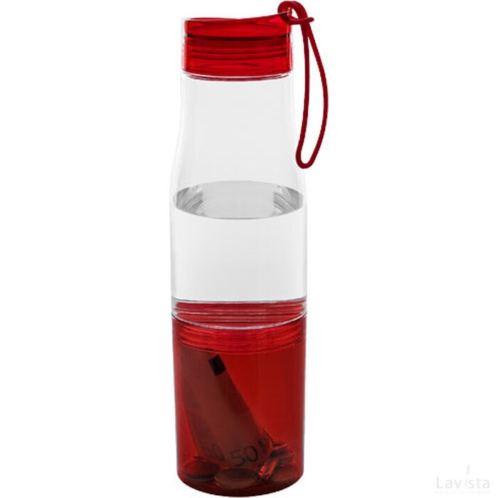 Hide away drinkfles Transparant,Rood