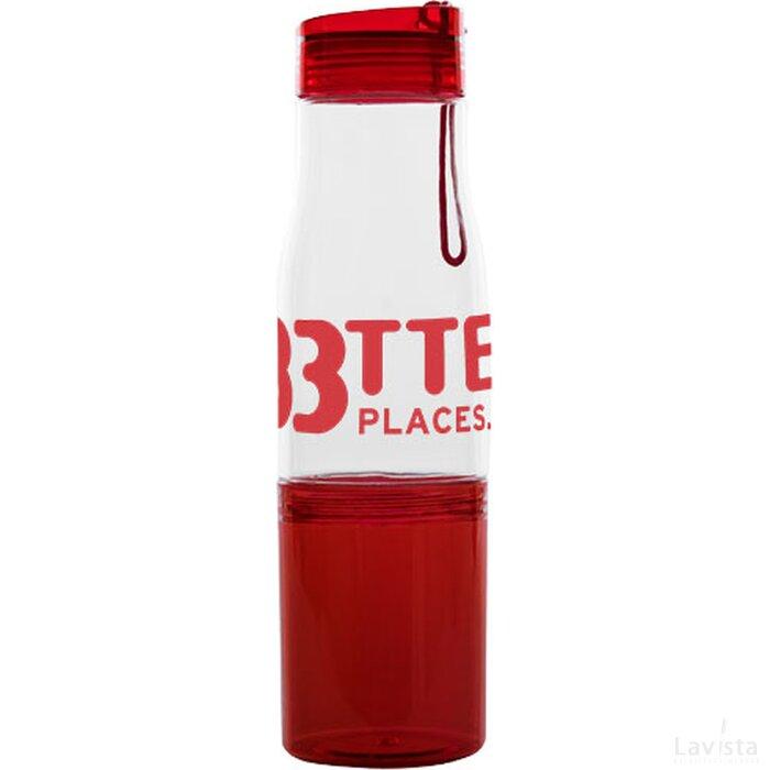 Hide away drinkfles Transparant,Rood