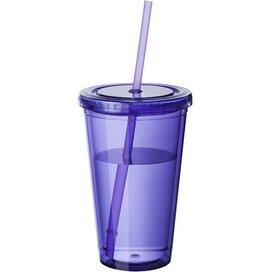 Cyclone geïsoleerde drinkbeker met rietje Paars