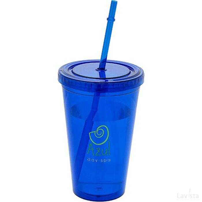 Cyclone geïsoleerde drinkbeker met rietje