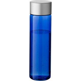 Fox drinkfles Transparant blauw,Zilver