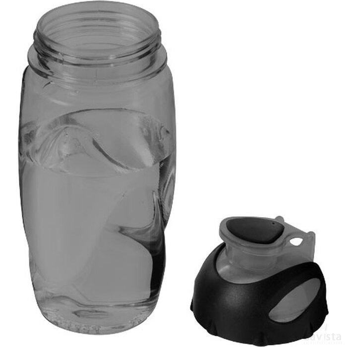 Gobi sportfles Transparant zwart