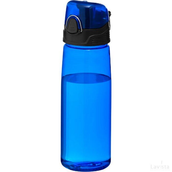 Capri sportfles Transparant blauw