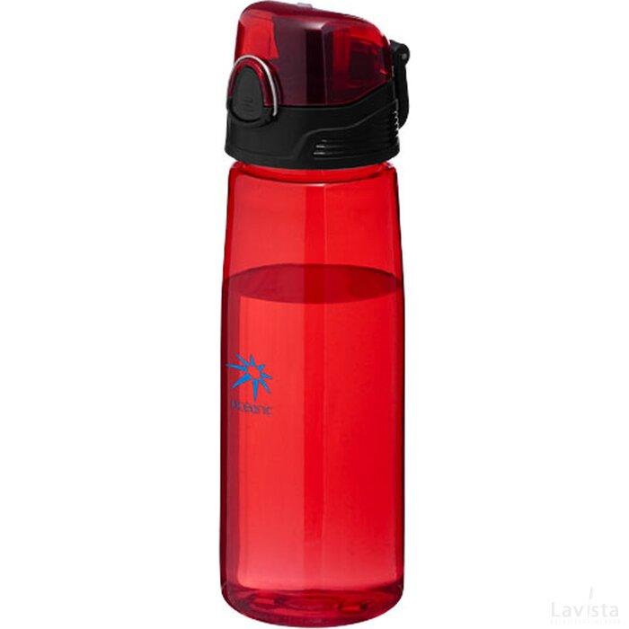 Capri sportfles Transparant rood