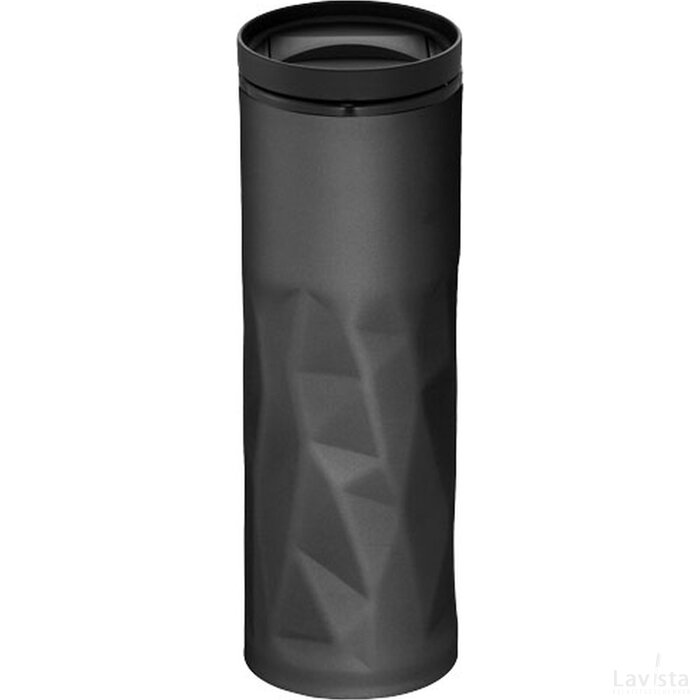 Torino geïsoleerde drinkbeker Zwart