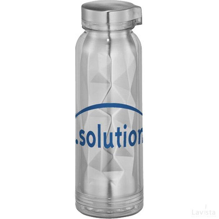 Vertex geometrische geïsoleerde drinkfles Transparant