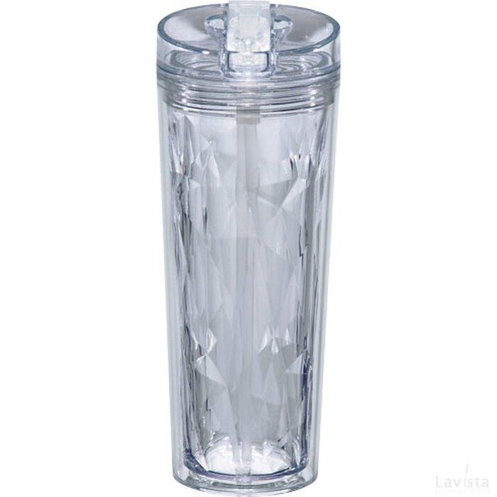 Hot en Cold Flip n Sip geometrische isolerende drinkfles