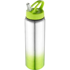 Gradient drinkfles Lime,Zilver