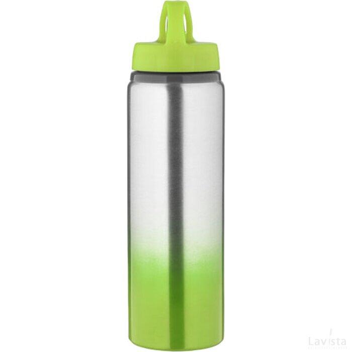 Gradient drinkfles Lime,Zilver