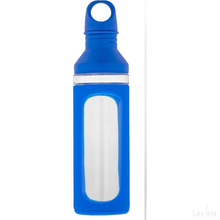 Hover glazen drinkfles blauw,Transparant