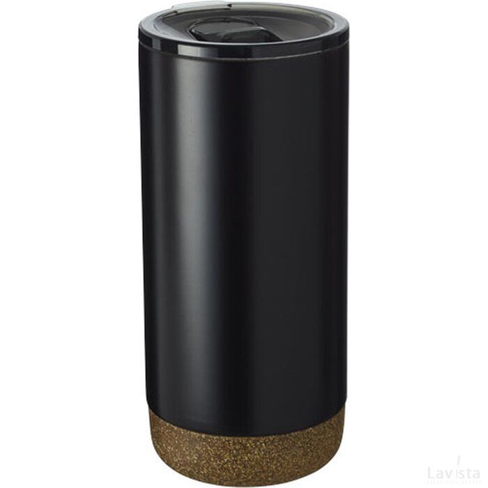 Valhalla koper vacuüm geïsoleerde drinkbeker Zwart