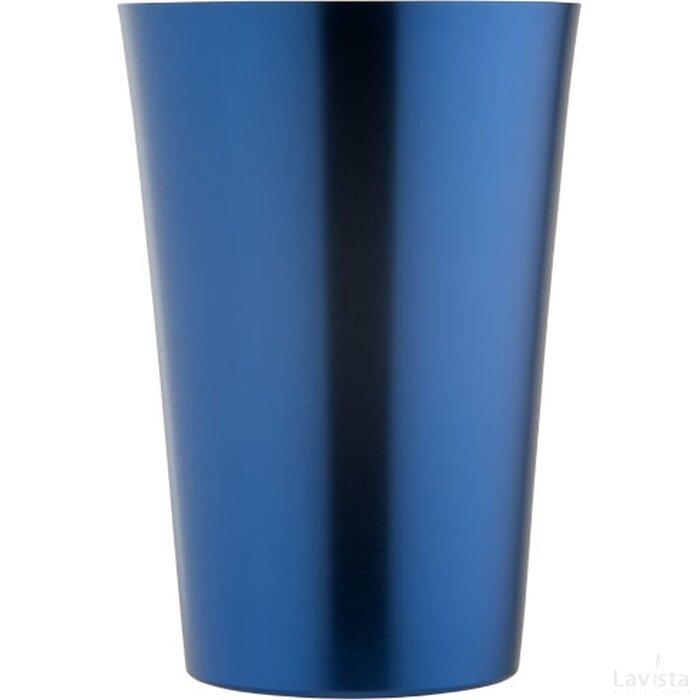 Koperen drinkbeker koningsblauw