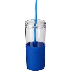 Babylon drinkbeker met rietje blauw