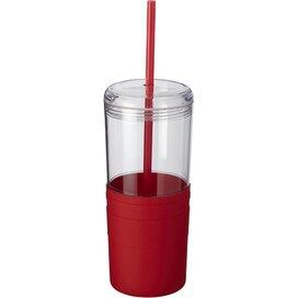 Babylon drinkbeker met rietje Rood