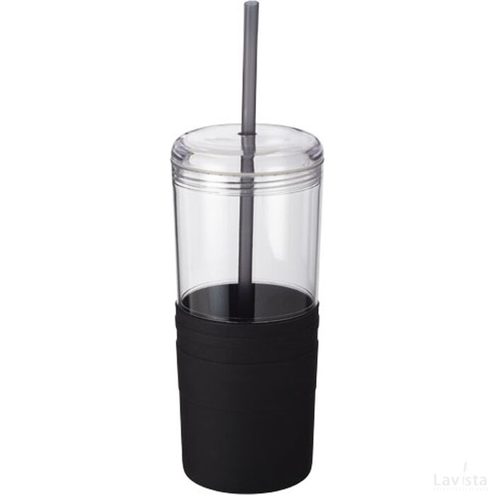 Babylon drinkbeker met rietje Zwart