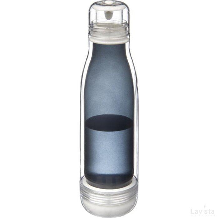 Spirit sportfles met glazen binnenwand Zwart