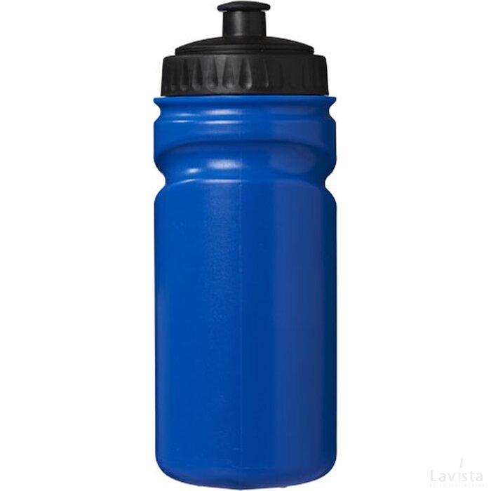 Gekleurde Easy Squeezy bidon blauw,Zwart