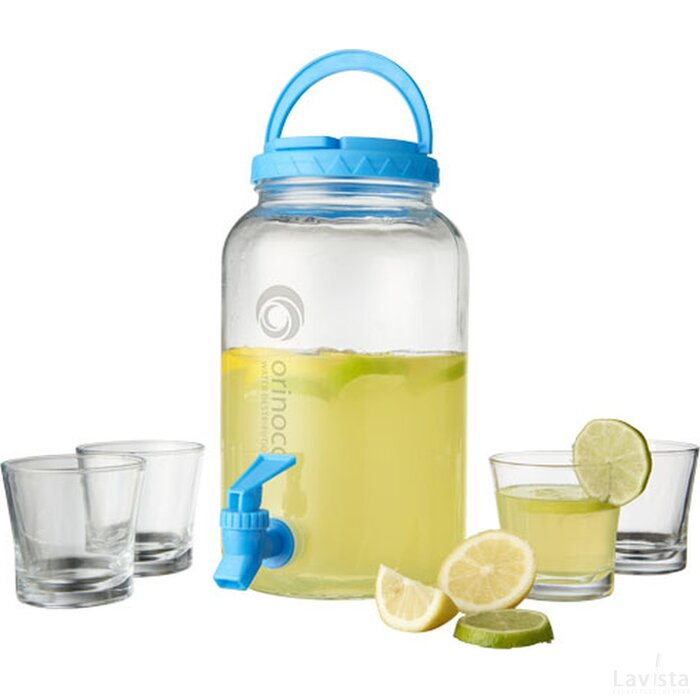Festi 5 delige drink en dispenser set Transparant