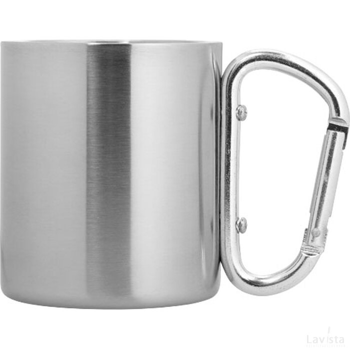 Alps geïsoleerde drinkbeker met karabijnhaak Zilver