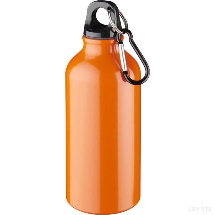 Oregon 400 ml drinkfles met karabijnhaak Oranje