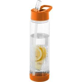 Tuttifrutti infuser drinkfles Transparant wit,Oranje