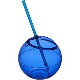Fiesta bal met rietje koningsblauw