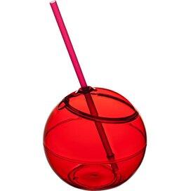 Fiesta bal met rietje Rood