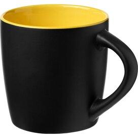 Riviera 340 ml keramische mok Zwart,geel