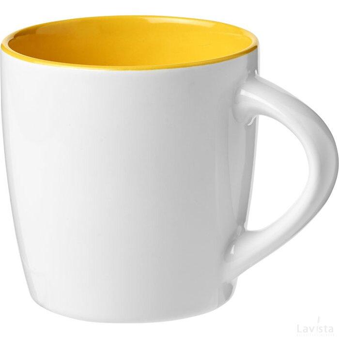 Azteek 340 ml keramische mok Wit,geel