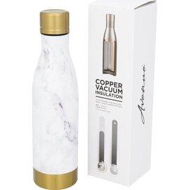 Vasa marmeren koper vacuüm geïsoleerde fles Wit,Goud