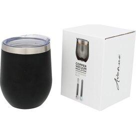 Corzo koperen vacuüm geïsoleerde drinkbeker Zwart