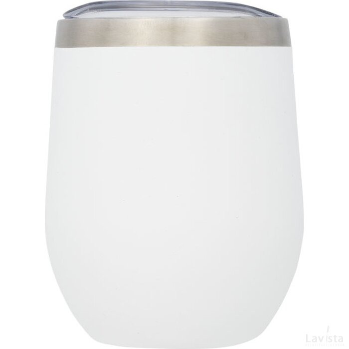 Corzo koperen vacuüm geïsoleerde drinkbeker Wit