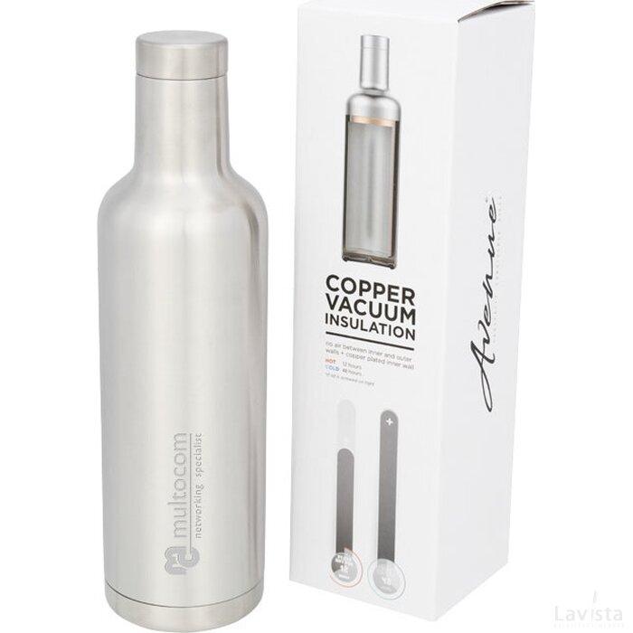 Pinto koper vacuüm geïsoleerde fles Zilver
