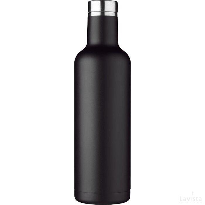 Pinto koper vacuüm geïsoleerde fles Zwart