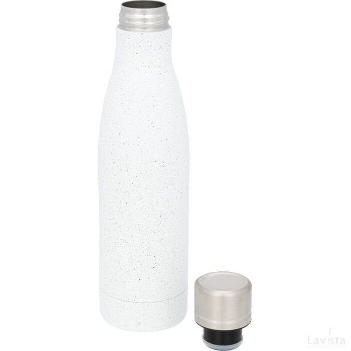 Vasa gespikkelde koperen vacuüm geïsoleerde fles Wit