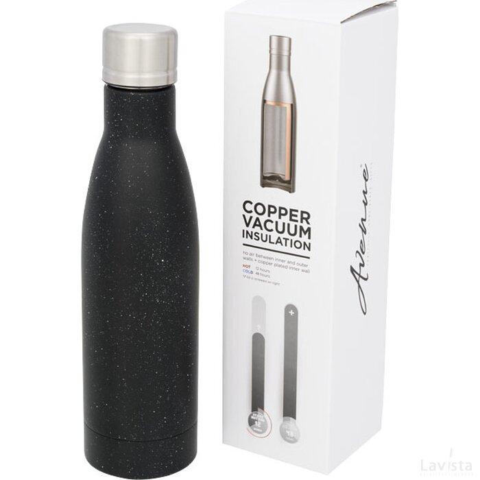 Vasa gespikkelde koperen vacuüm geïsoleerde fles Zwart