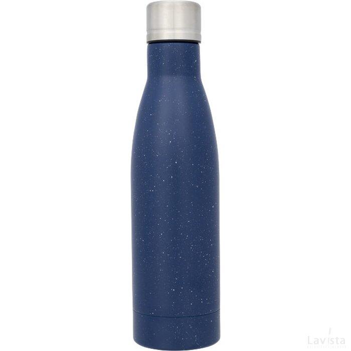 Vasa gespikkelde koperen vacuüm geïsoleerde fles blauw