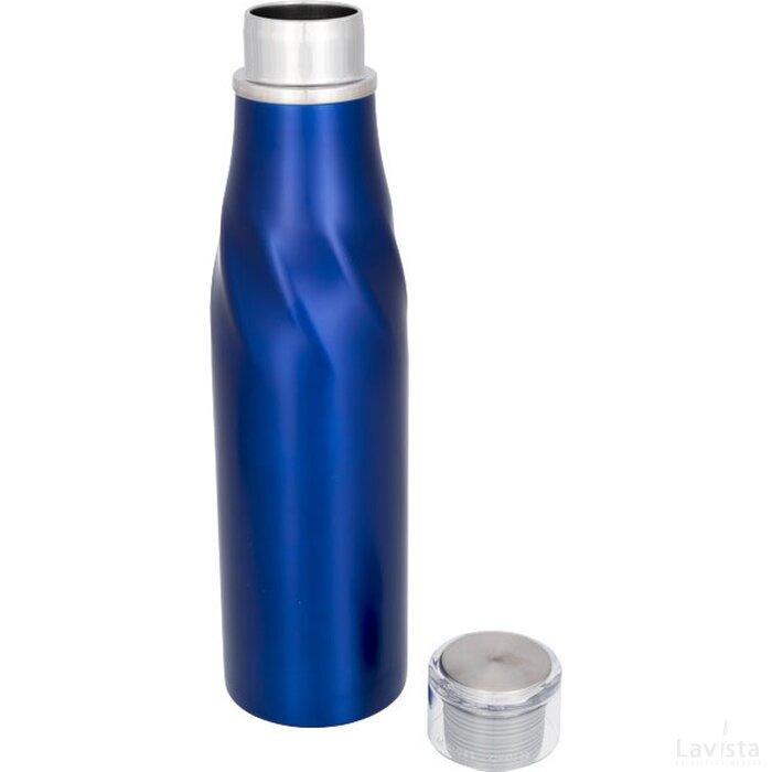 Hugo koper vacuüm geïsoleerde zelfsluitende thermosfles blauw
