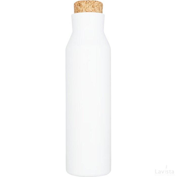 Norse 590 ml koper vacuüm geïsoleerde fles met kurk Wit