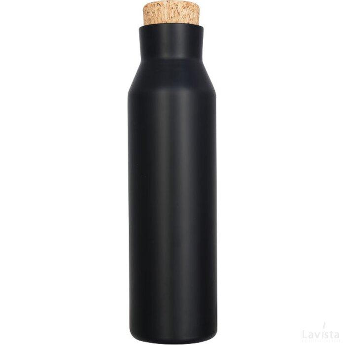Norse 590 ml koper vacuüm geïsoleerde fles met kurk Zwart