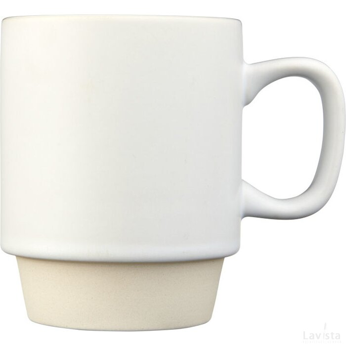Arthur 420 ml keramische mok Wit