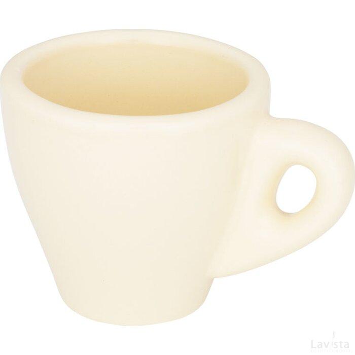 Perk gekleurde espressomok Cream