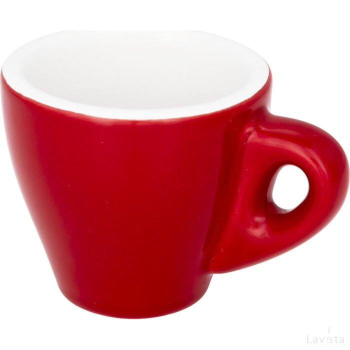 Perk gekleurde espressomok Rood