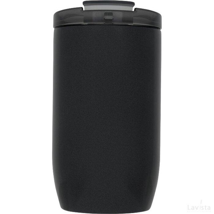 Lagom 380 ml koper vacuüm geïsoleerde drinkbeker Zwart