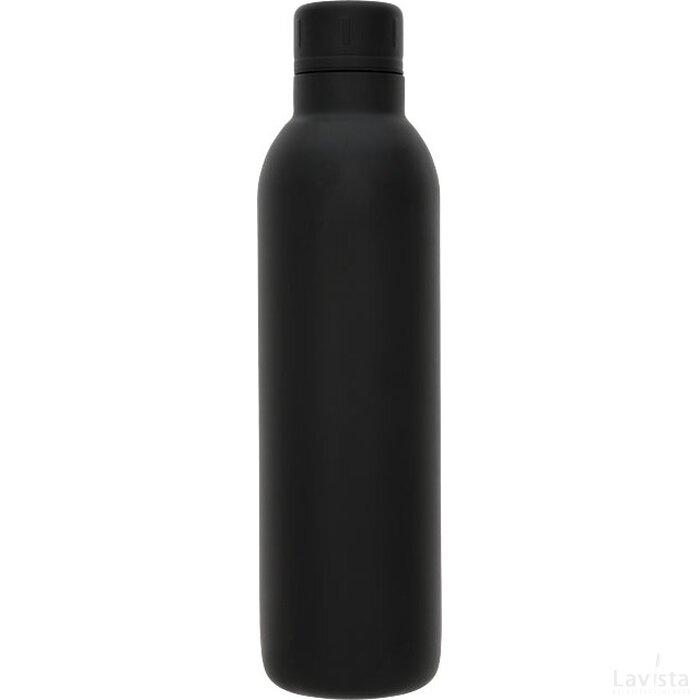 Thor 510 ml koper vacuüm geïsoleerde drinkfles Zwart