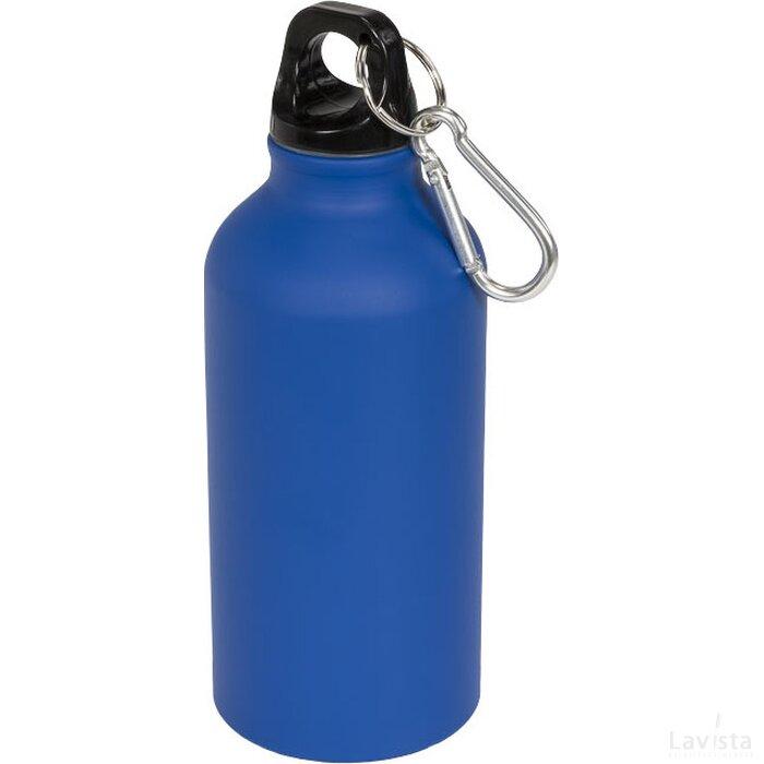 Oregon matte 400 ml drinkfles met karabijnhaak blauw
