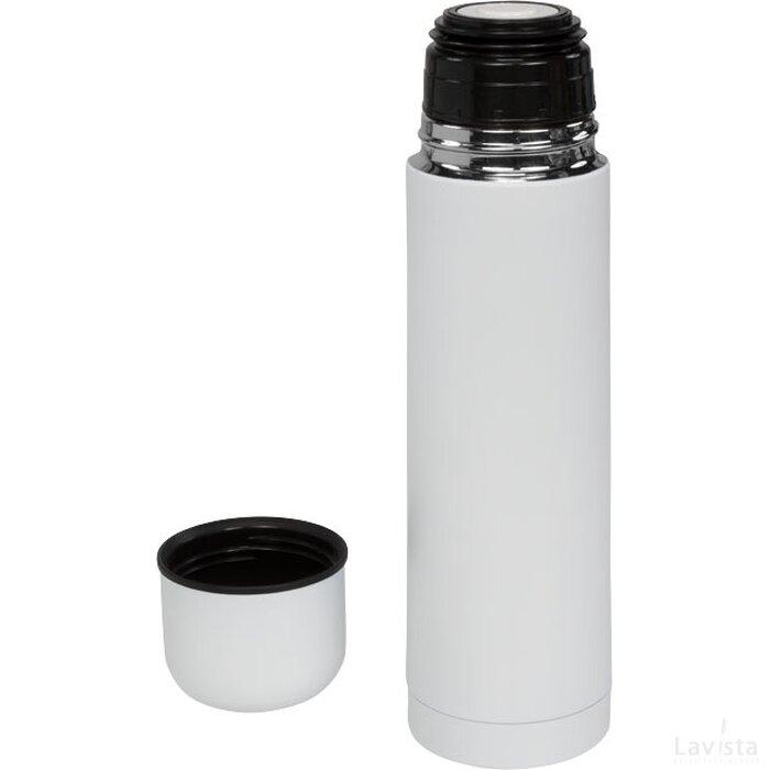 Gallup matte 500 ml vacuum geïsoleerde thermosfles Wit